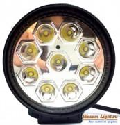 [27 Вт] Светодиодная LED фара дальнего света, круглая LOYO UNIVERSAL LYN-8027