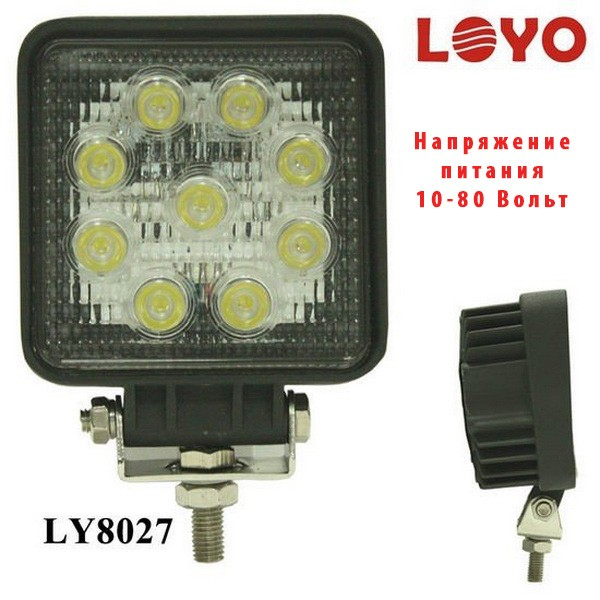 Фара светодиодная LOYO для электрического погрузчика, напряжение питания 10-80 Вольт (48 вольт, 60 Вольт, 80 Вольт)
