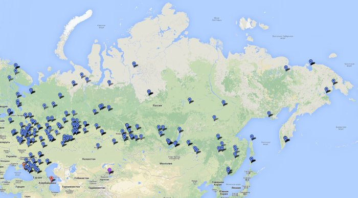 Карта доставки заказов