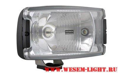 Wesem 5HP 224.86 BLACK фара дальнего света прямоугольная, с габаритом Фара дальнего света 5HP (с проводом) и габаритом Лампа: H3 Размер: 220x123 мм.