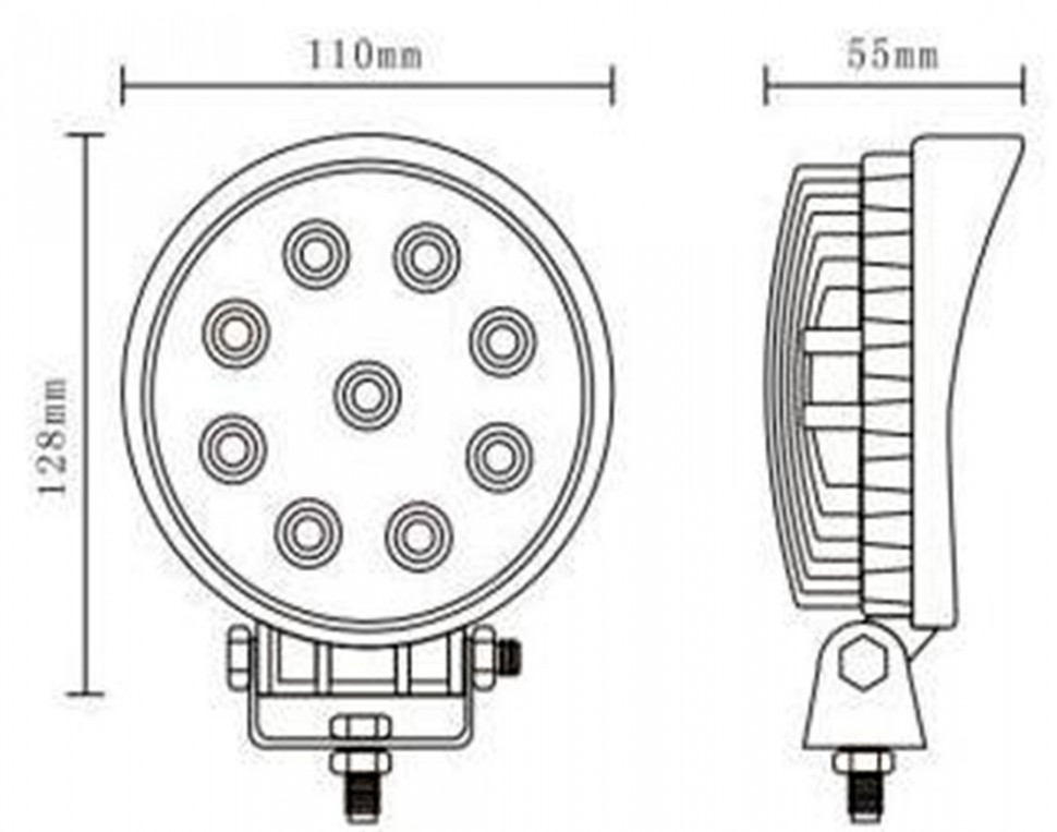 светодиодная дополнительная фара для спецтехники